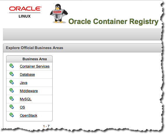 Oracle Linux Container Registry – Ron's Blog