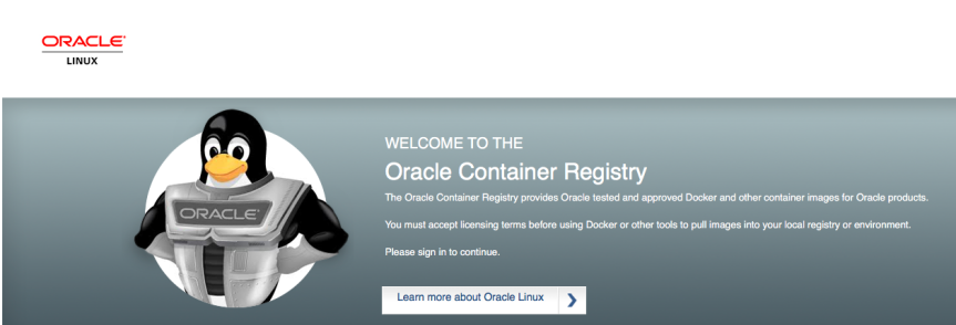 Oracle Linux ContainerRegistry