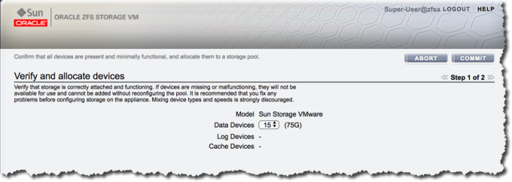 Getting started with the Oracle ZFS Storage VMware Simulator