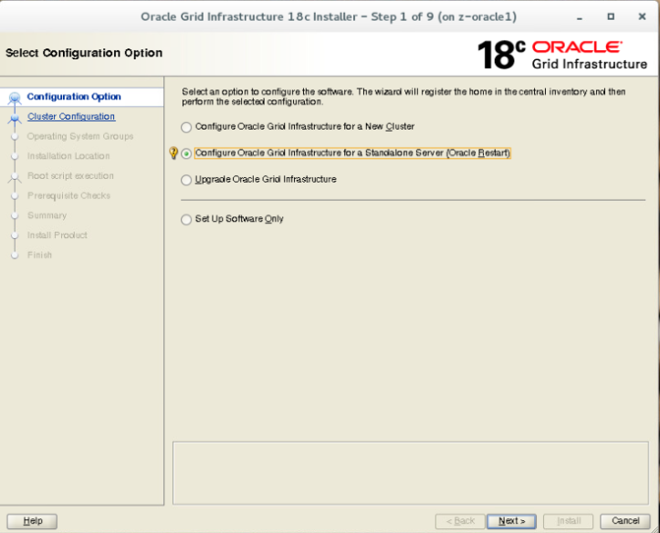 Oracle 18c Grid Infrastructure installation – Ron's Blog