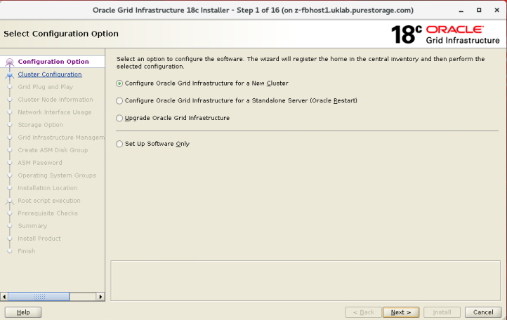 Oracle 18c Grid Infrastructure installation on NFS – Ron's Blog