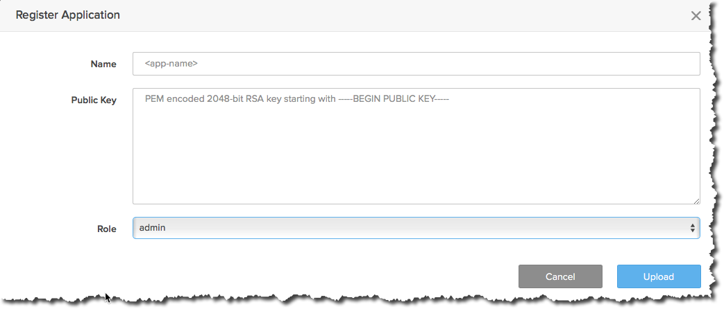 Enter source system Name and provide Public Key